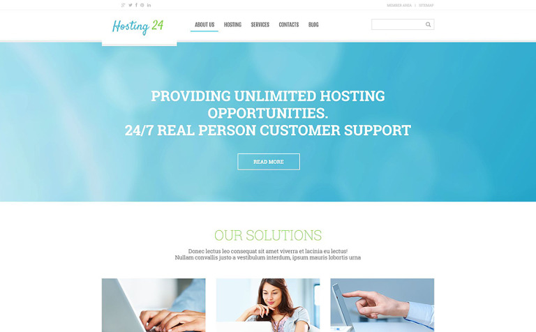 Web Development Responsive WordPress Theme #54791