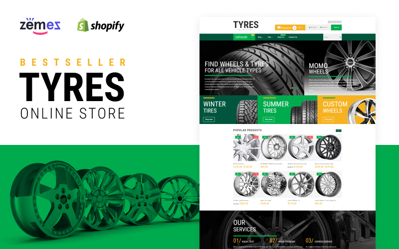 Wheels and Tyres Shopify Theme
