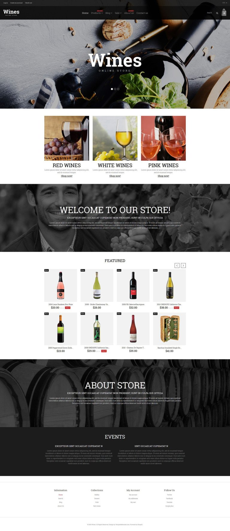 Wine Responsive Shopify Theme New Screenshots BIG
