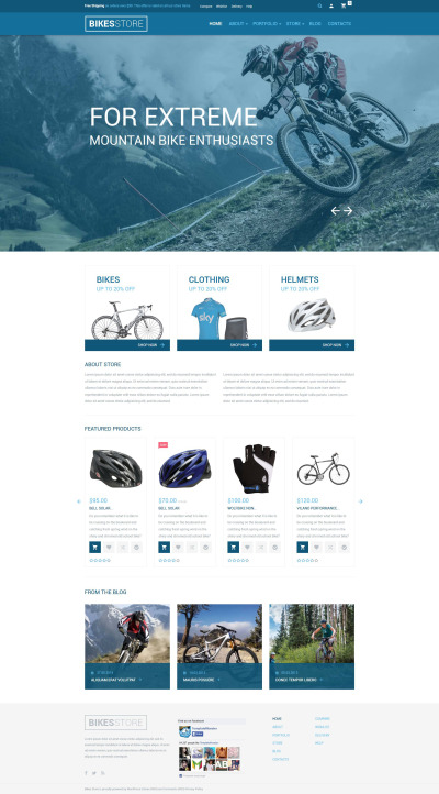 """WooCommerce шаблон """"Спутник велосипедиста"""" #54734"""