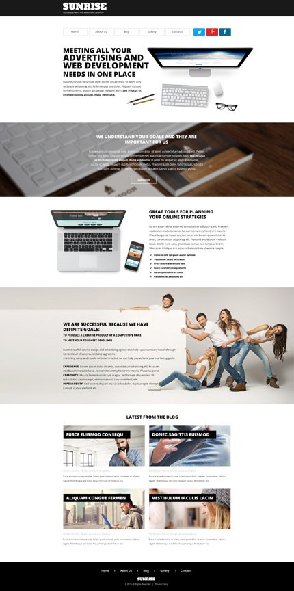 WordPress Theme/Template 54801 Main Page Screenshot