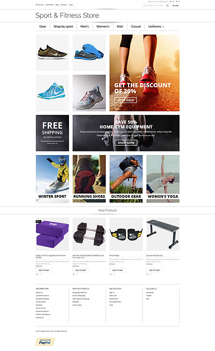 Magento Theme/Template 54804 Main Page Screenshot