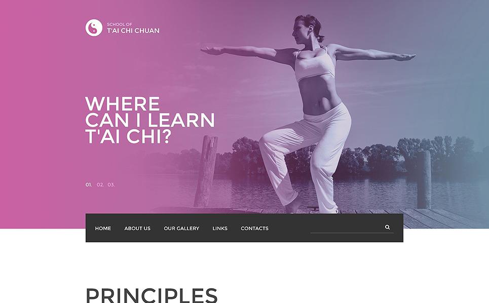 "Website Vorlage namens ""Tai Chi Chuan"" New Screenshots BIG"