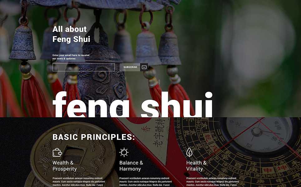 Responsive Feng Shui  Açılış Sayfası Şablonu New Screenshots BIG
