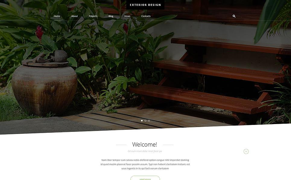 Reszponzív Kültéri dizájn  Joomla sablon New Screenshots BIG