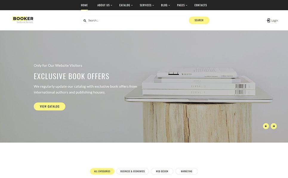 Reszponzív Könyv  Weboldal sablon New Screenshots BIG