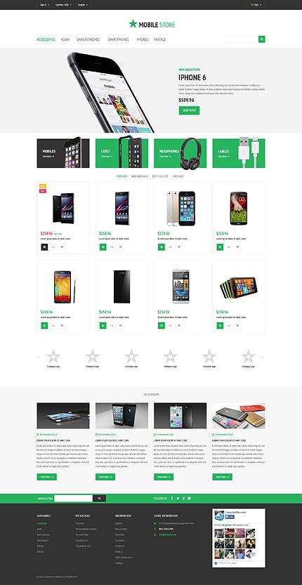 ADOBE Photoshop Template 54835 Home Page Screenshot