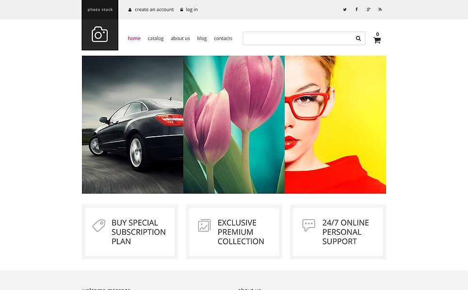 Responsive VirtueMart Vorlage für Stockfoto New Screenshots BIG
