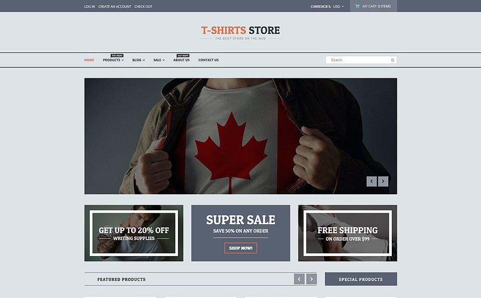 Responzivní Shopify motiv na téma Prodejna triček New Screenshots BIG