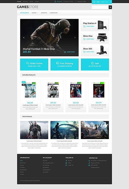 osCommerce Template 54843 Main Page Screenshot
