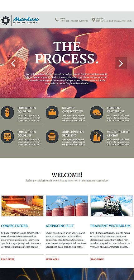 Joomla Theme/Template 54847 Main Page Screenshot