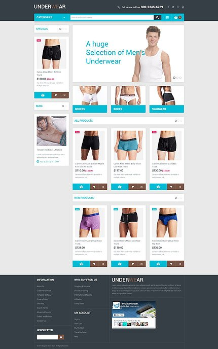 Magento Theme/Template 54848 Main Page Screenshot