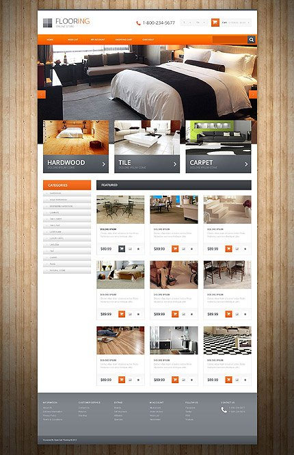 ADOBE Photoshop Template 54855 Home Page Screenshot