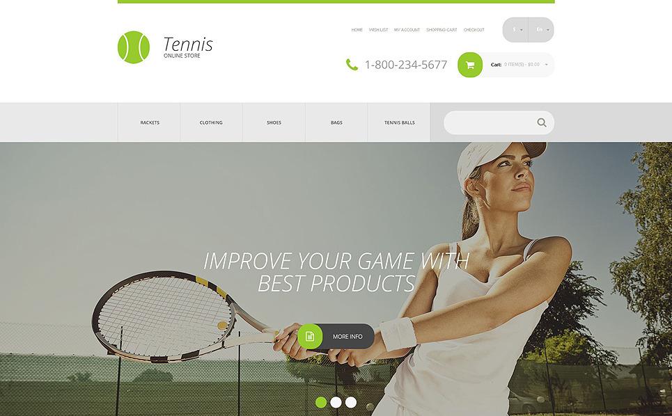 Responsywny szablon OpenCart #54856 na temat: tenis New Screenshots BIG