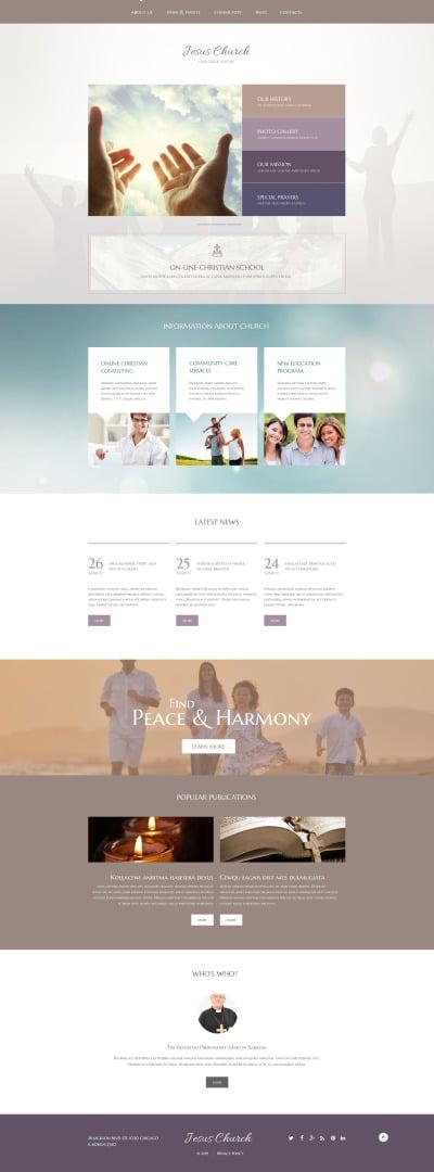 Religiöst Responsivt WordPress-tema