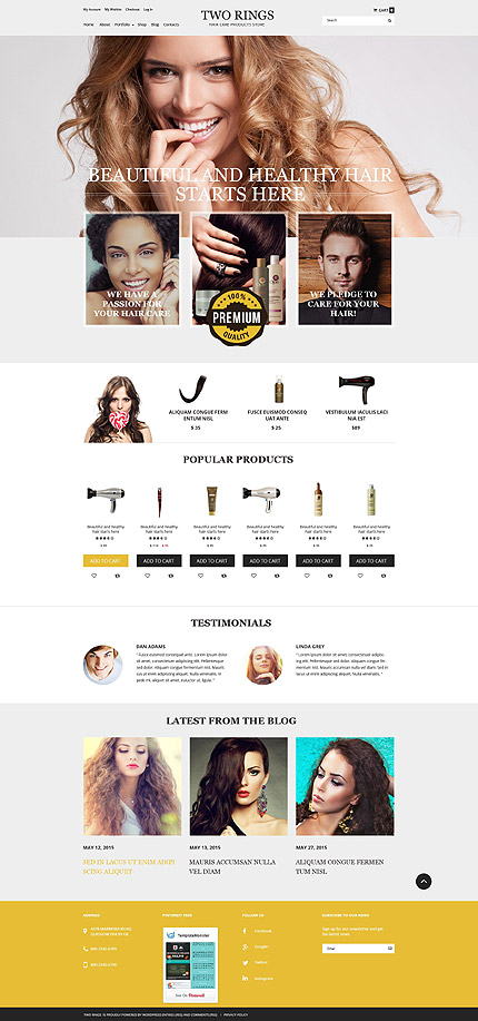 ADOBE Photoshop Template 54871 Home Page Screenshot