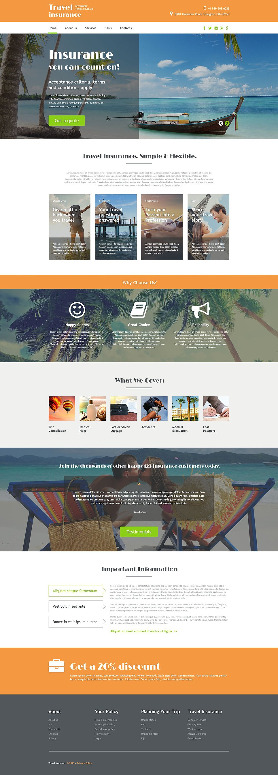 Travel Agency template illustration image