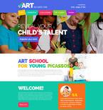 Art & Photography Website  Template 54875