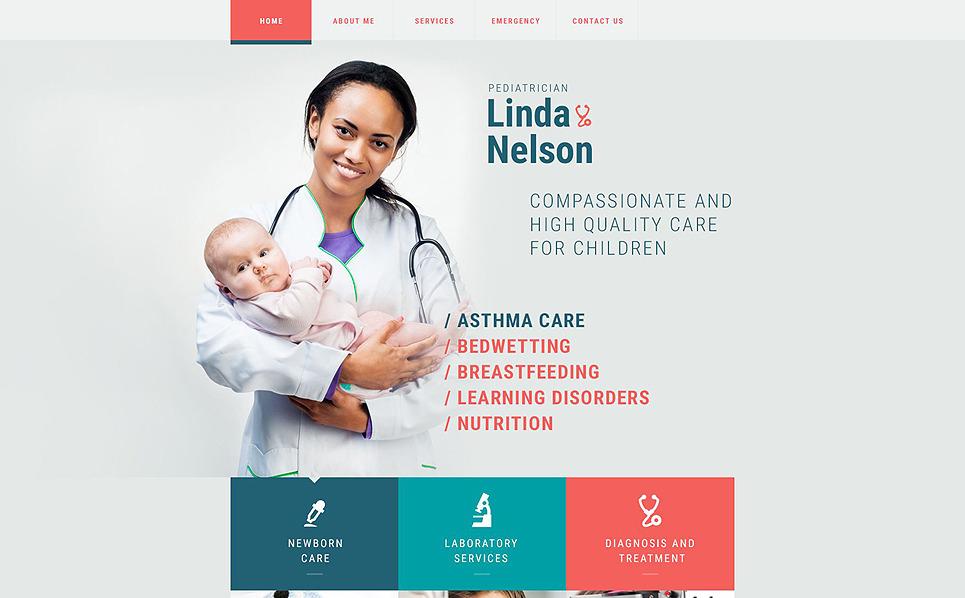 Адаптивний Шаблон сайту на тему педіатрія New Screenshots BIG