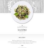 Cafe & Restaurant Newsletter  Template 54880