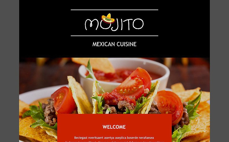 Responsive Newsletter Vorlage für Mexikanisches Restaurant  New Screenshots BIG