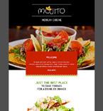 Cafe & Restaurant Newsletter  Template 54888