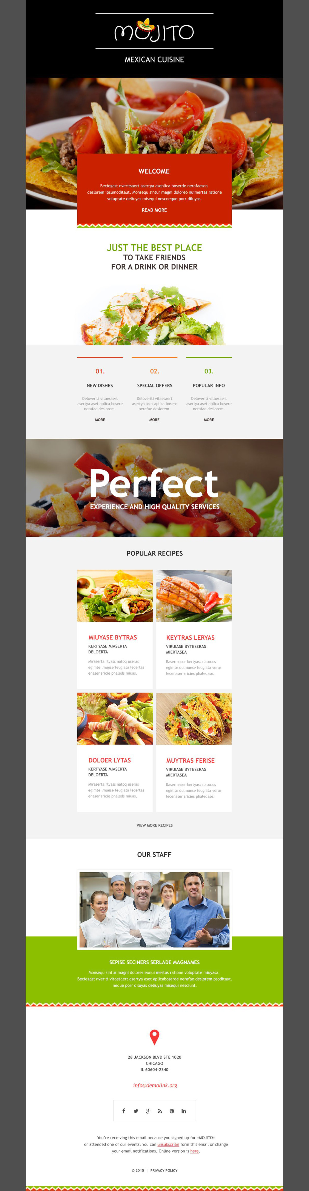 cafe and restaurant newsletter template 54888 templates com