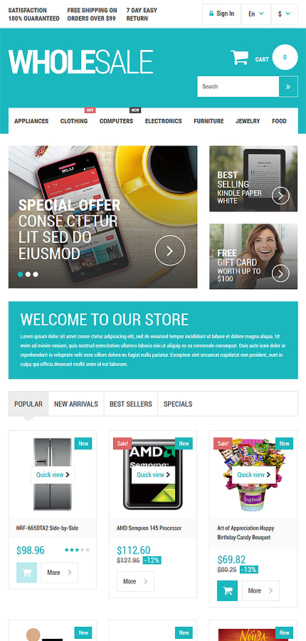 ADOBE Photoshop Template 54889 Home Page Screenshot