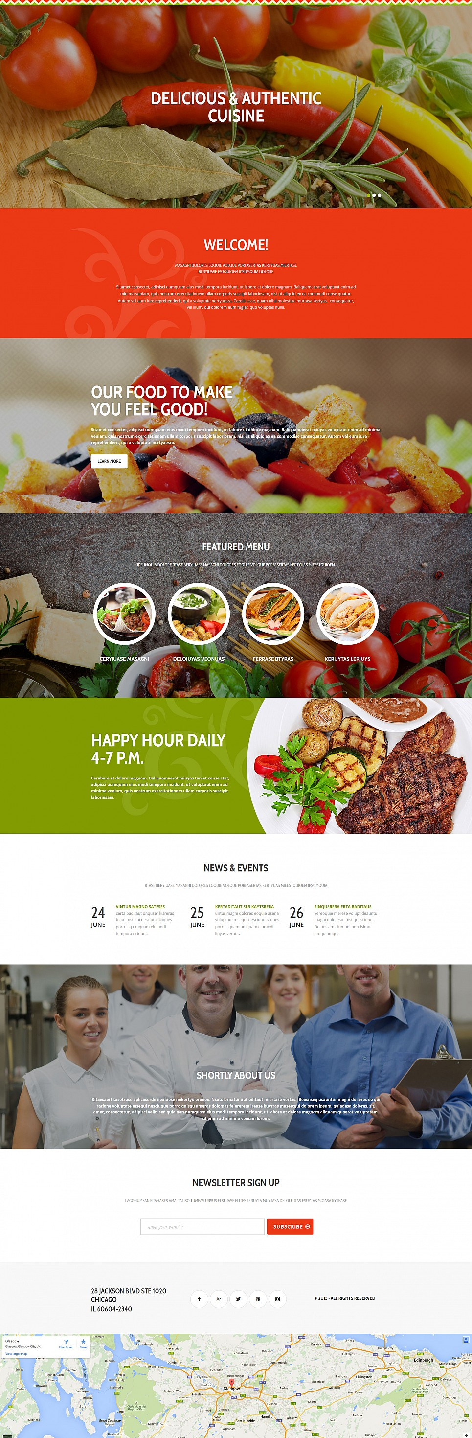 Single-Page Theme for Restaurant Business - image