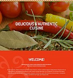 Cafe & Restaurant Moto CMS 3  Template 54891