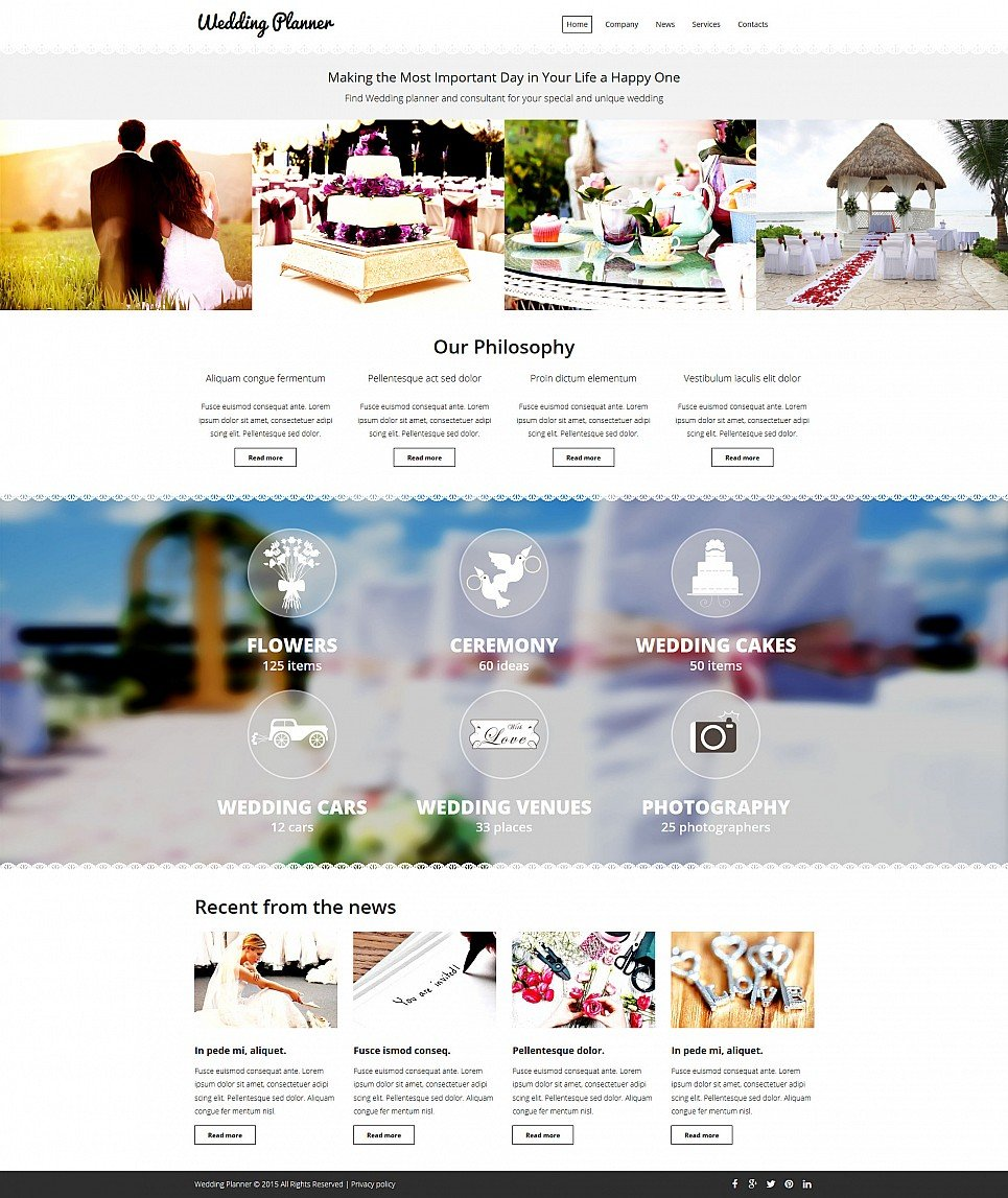 Budget Wedding Website Template - image