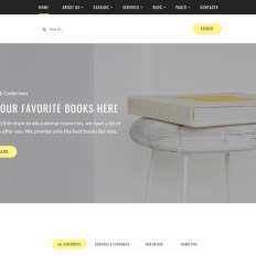 1163 best business website templates booker textbook rentals multipage html accmission Choice Image