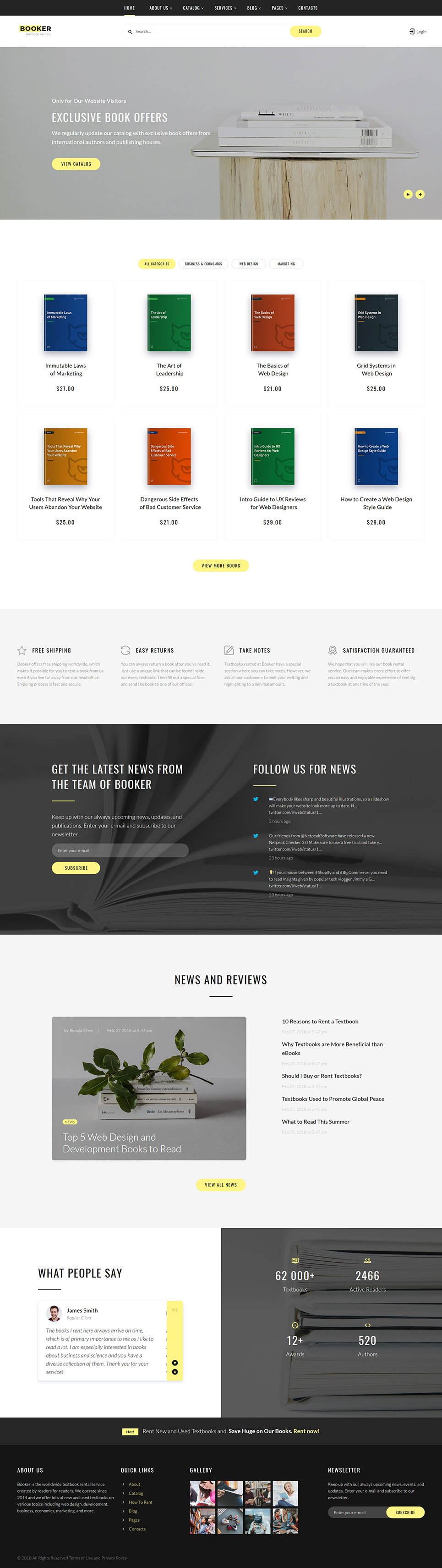 Books Responsive Website Template #54834