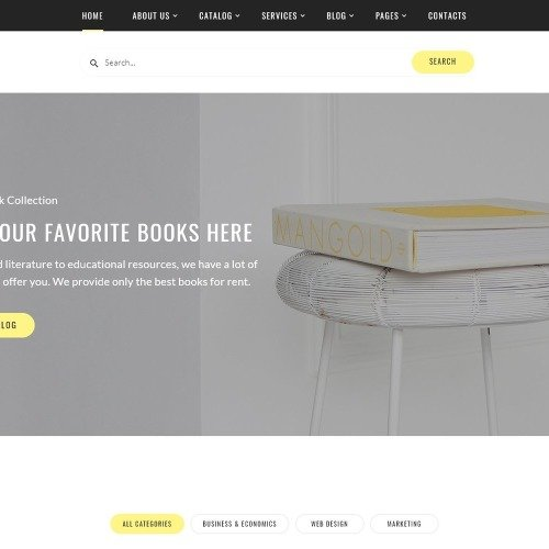 Rental Books - Website Template based on Bootstrap