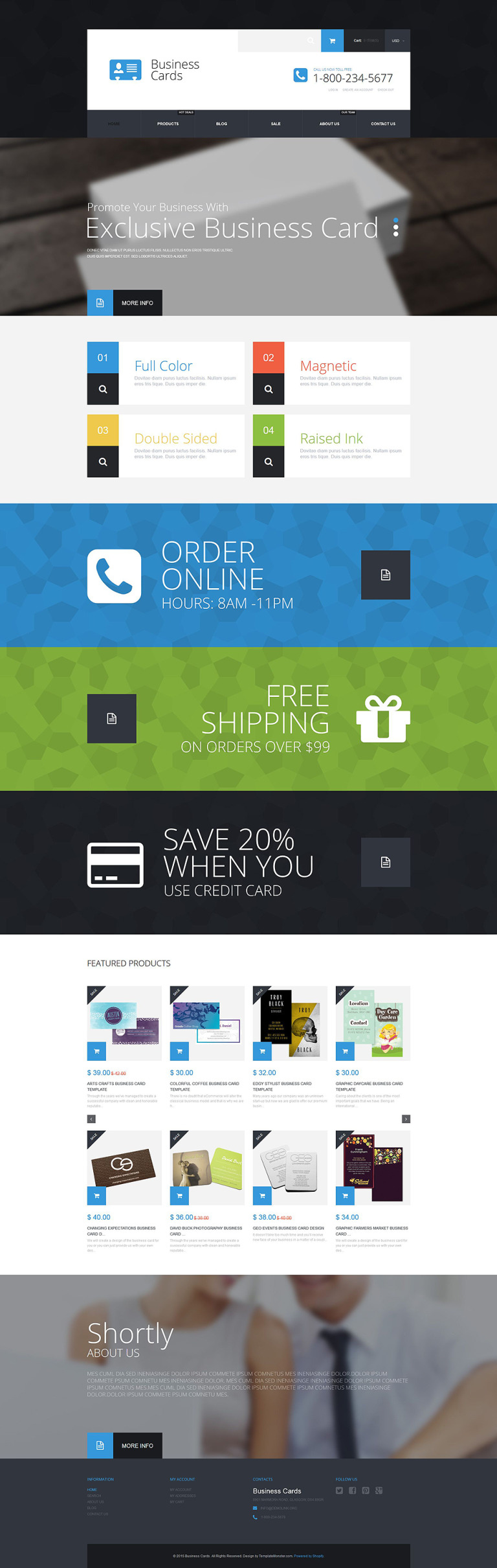Business Cards Store Shopify Theme New Screenshots BIG