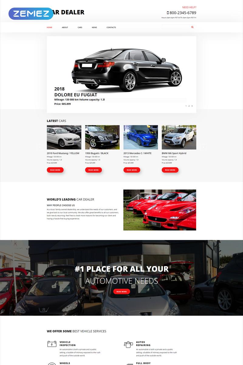 """Car Dealer - Car Dealer Clean"" 响应式Joomla模板 #54872"