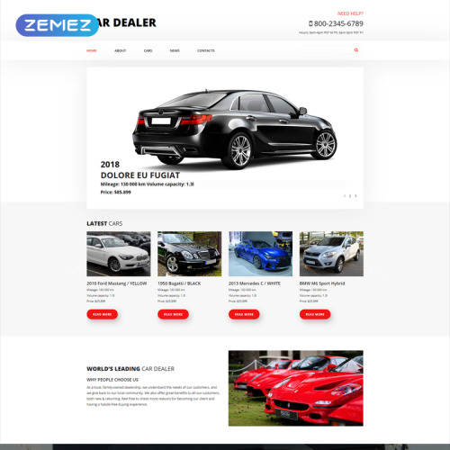 Car Dealer - Joomla! Template based on Bootstrap