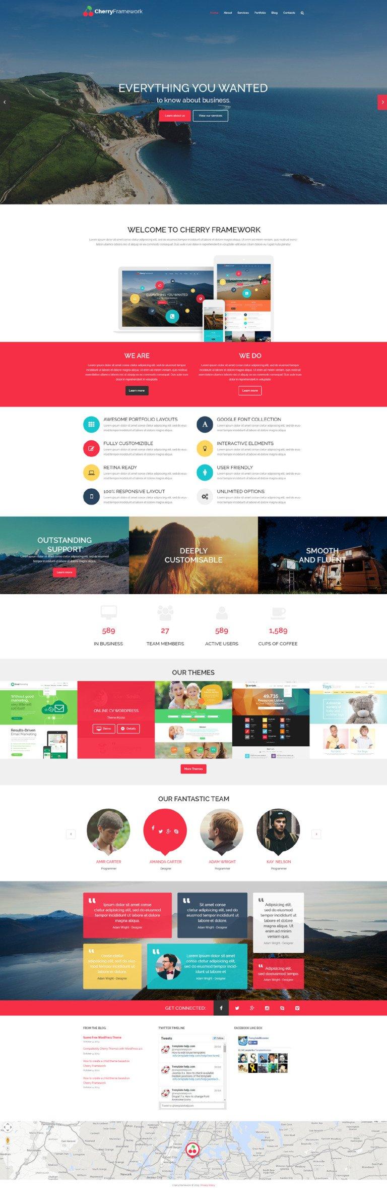 Cherry Framework Free WordPress Theme WordPress Theme New Screenshots BIG