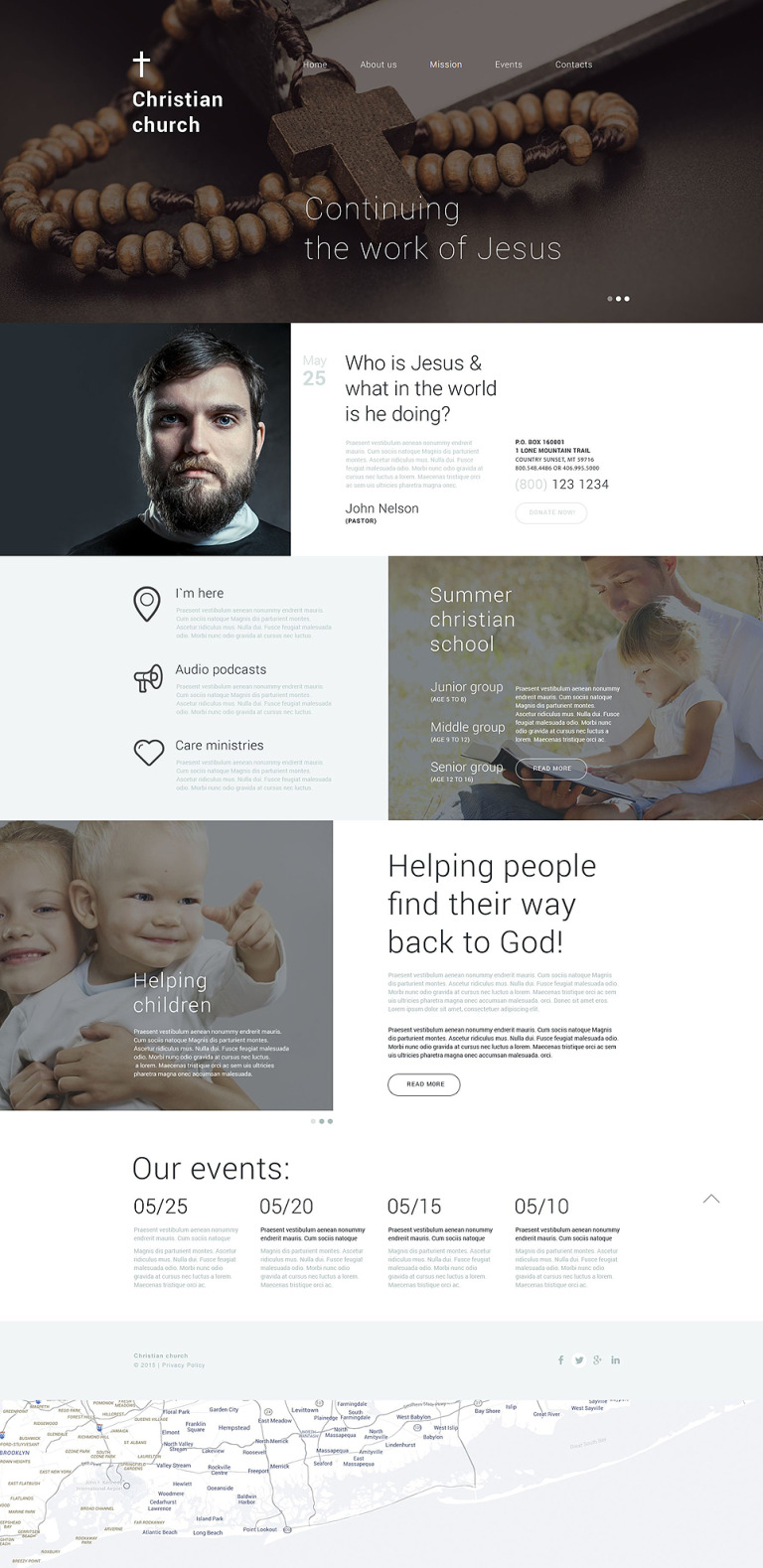 Christian Shelter Drupal Template New Screenshots BIG