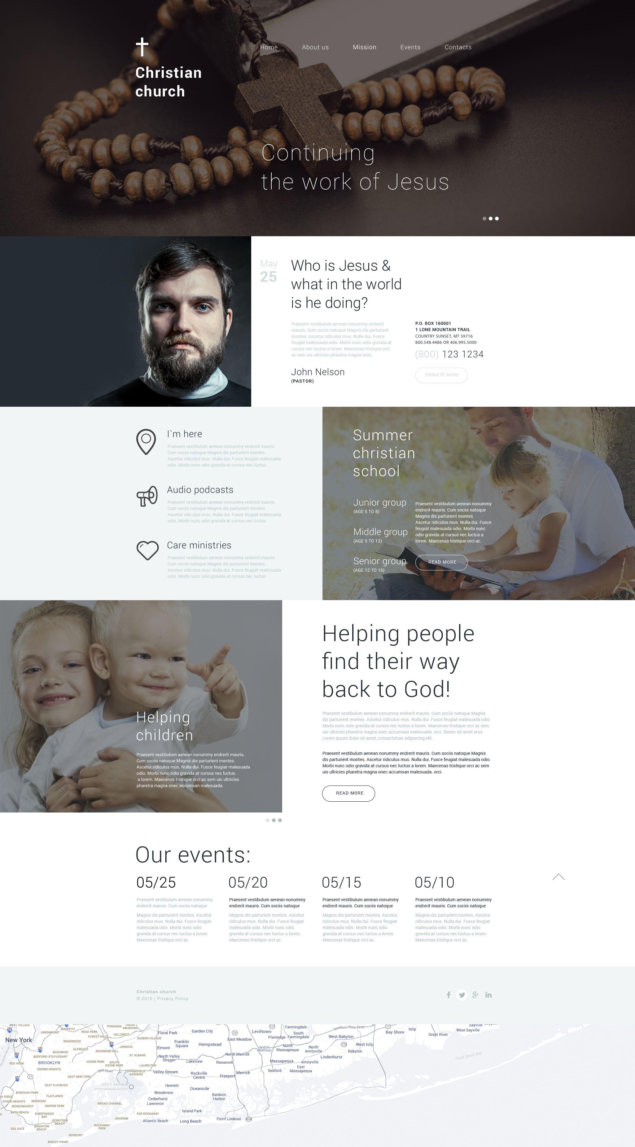 Christian Shelter Drupal Template - screenshot