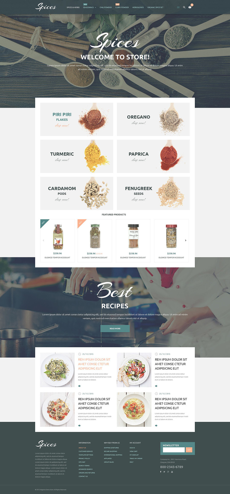Culinary Spices Magento Theme New Screenshots BIG
