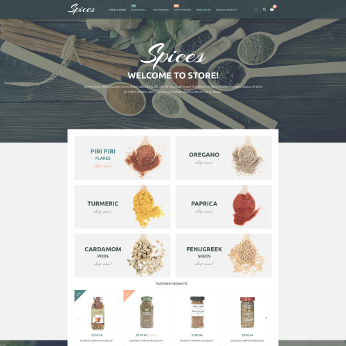 Spices - Magento Template based on Bootstrap