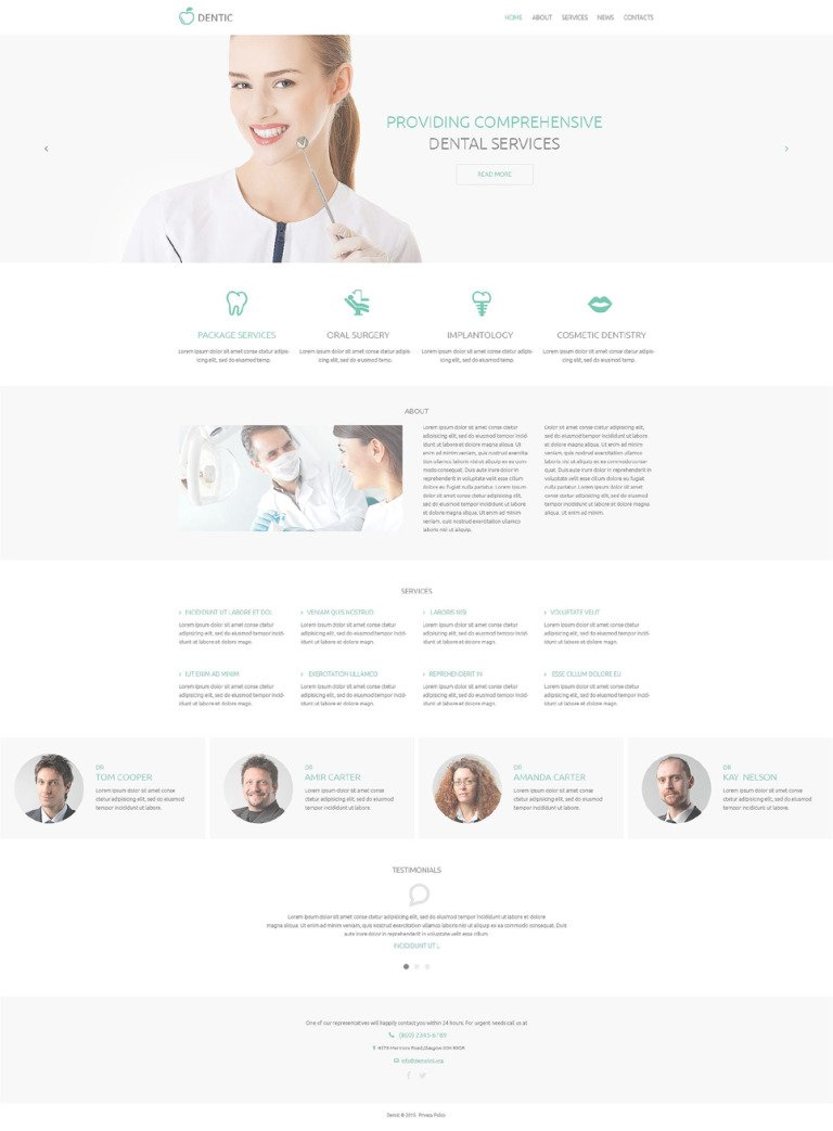 Dentistry Responsive Drupal Template New Screenshots BIG