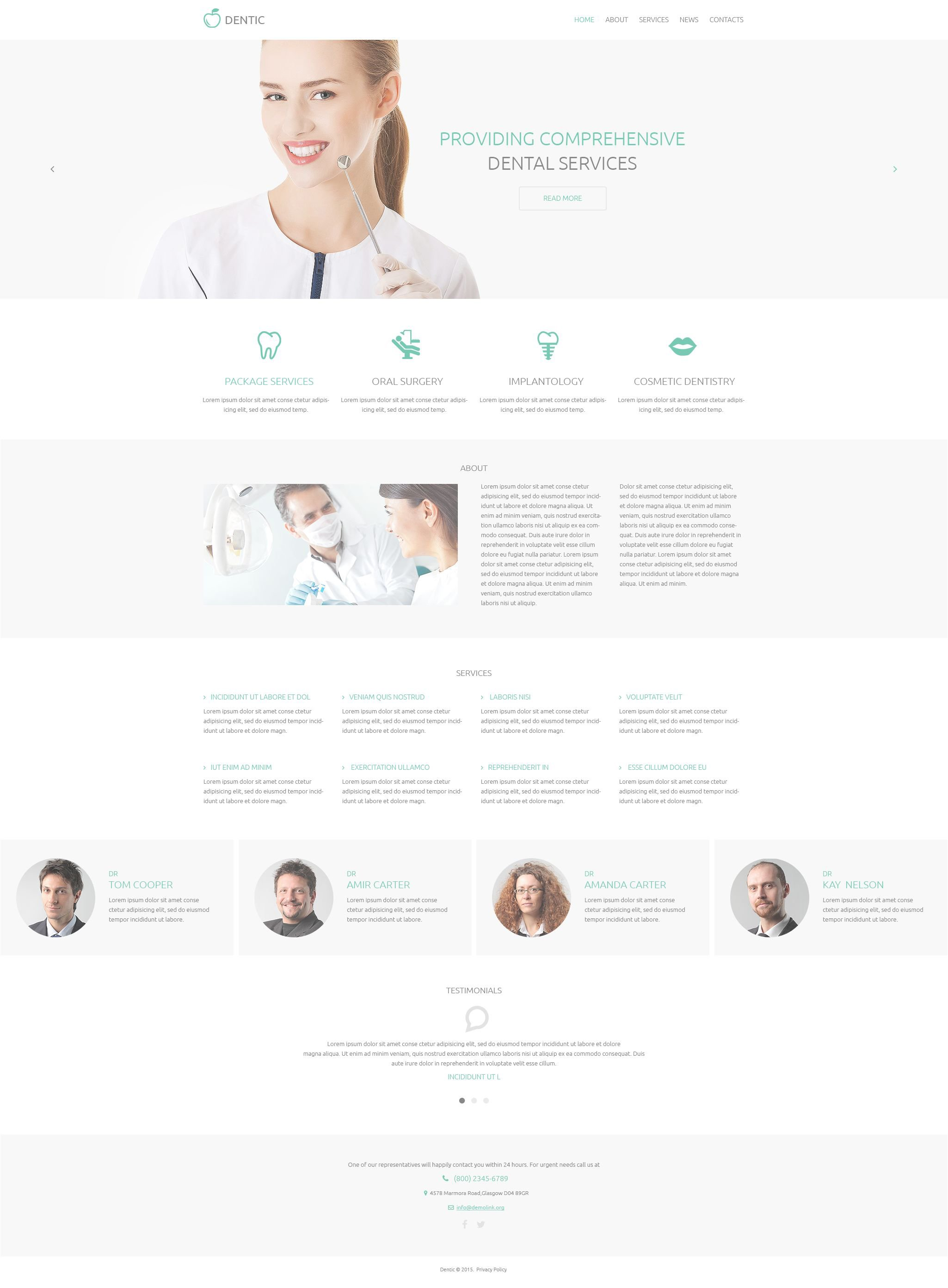 Dentistry Responsive Drupal Template - screenshot