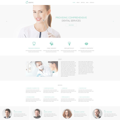 Dentic - Responsive Drupal Template