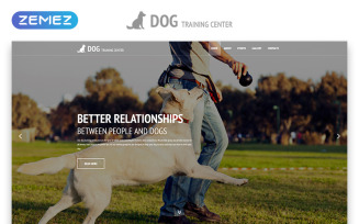 Dog Training Center - Dog Templates Responsive Modern HTML Website Template