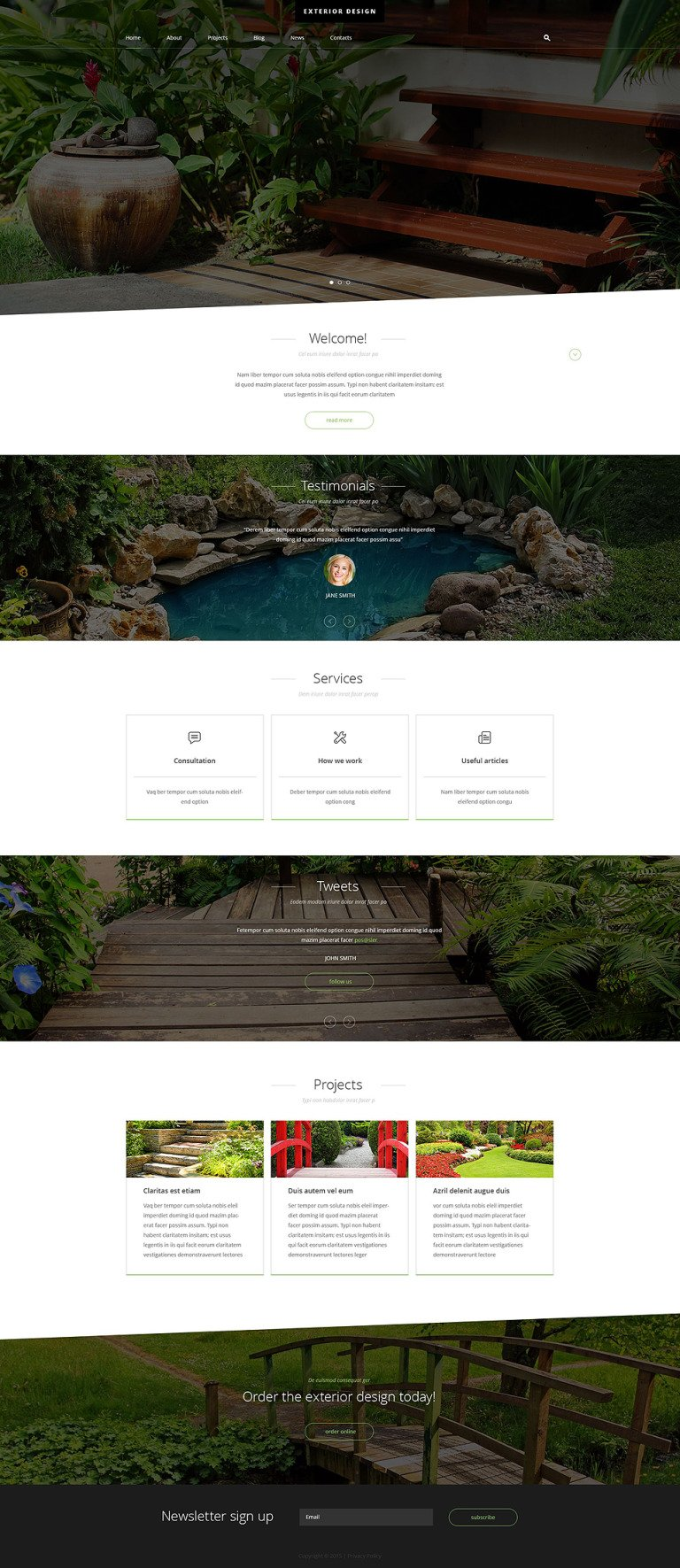 Exterior Design Joomla Template New Screenshots BIG