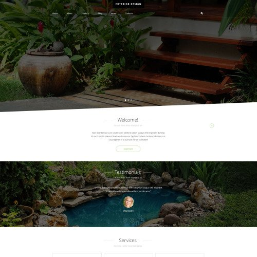 Exterior Design - Joomla! Template based on Bootstrap