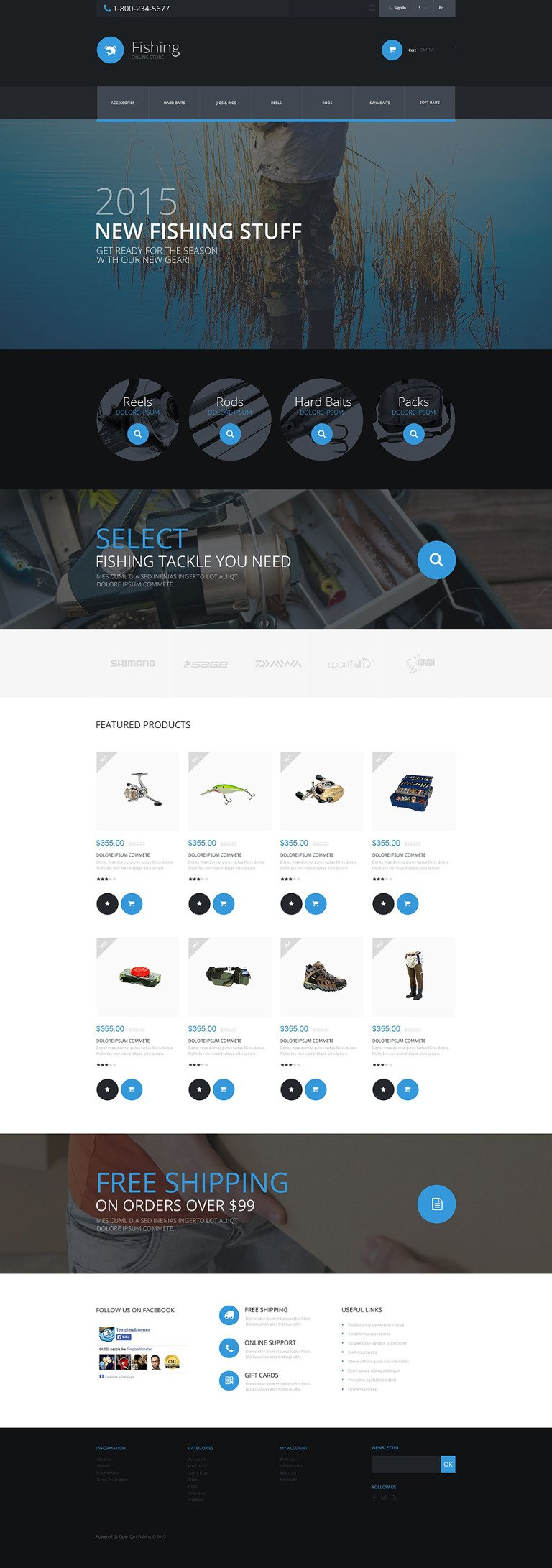 Fishing PrestaShop Theme New Screenshots BIG