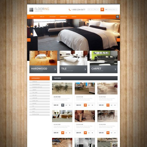 Flooring - OpenCart Online Flooring Shop Template